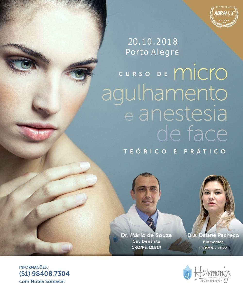 CURSO DE MICROAGULHAMENTO E ANESTESIA DE FACE